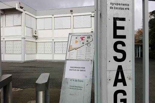Évora: Greve da função pública afeta saúde e educação