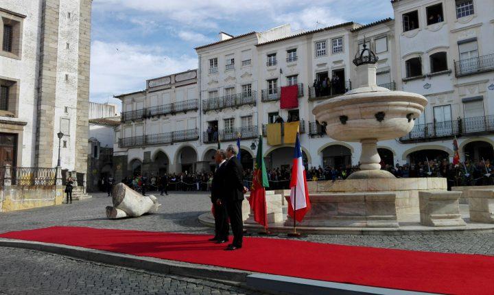 Presidente da Republica do Chile visita Évora