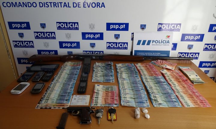 Évora: PSP desmantela rede que abastecia droga