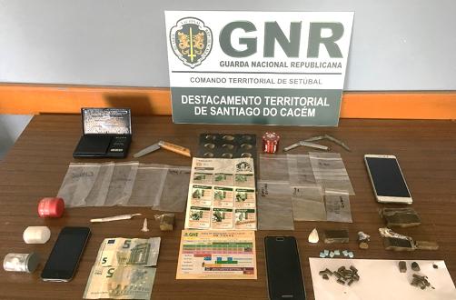 Santiago do Cacém: GNR detém três homens por tráfico de droga