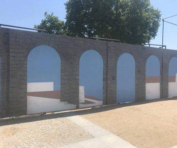Évora: Painel que reproduz aqueduto pode ficar exposto após a feira