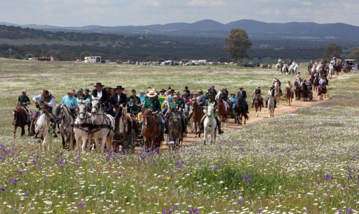 Romaria a Cavalo a caminho de Viana do Alentejo