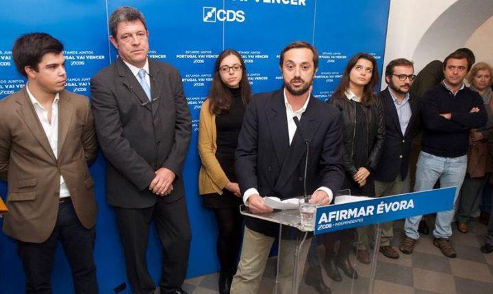 Évora: Frederico Carvalho lidera lista do CDS-PP à assembleia municipal