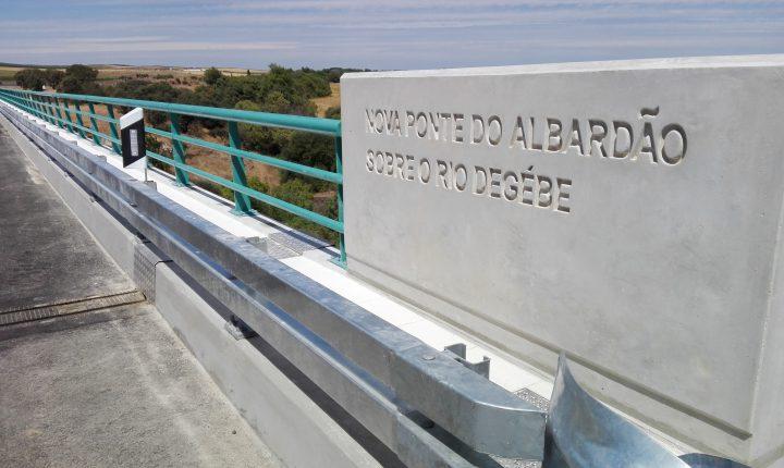 Évora: Já se passa na nova ponte do Albardão
