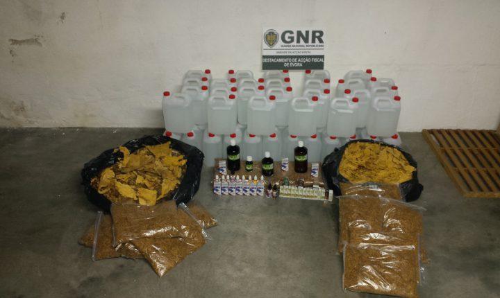 Évora: GNR apreende tabaco e bebidas espirituosas