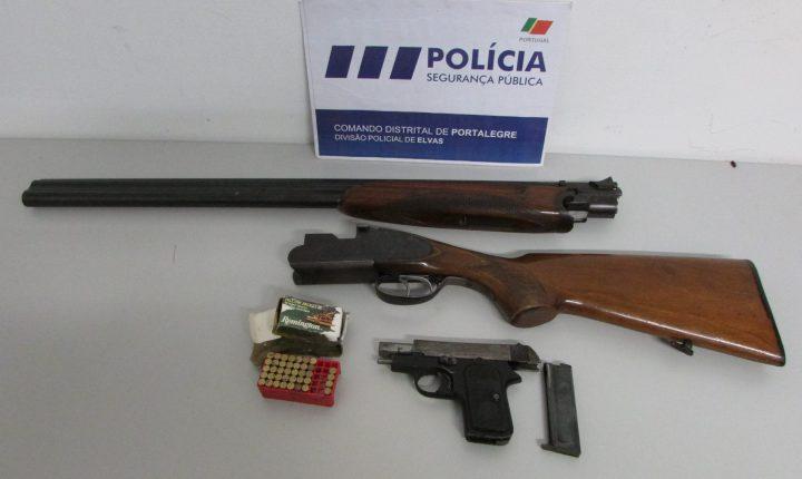 Elvas: Três detidos por posse de armas