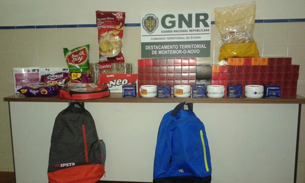 Montemor-o-Novo: Dois detidos por furto em supermercado
