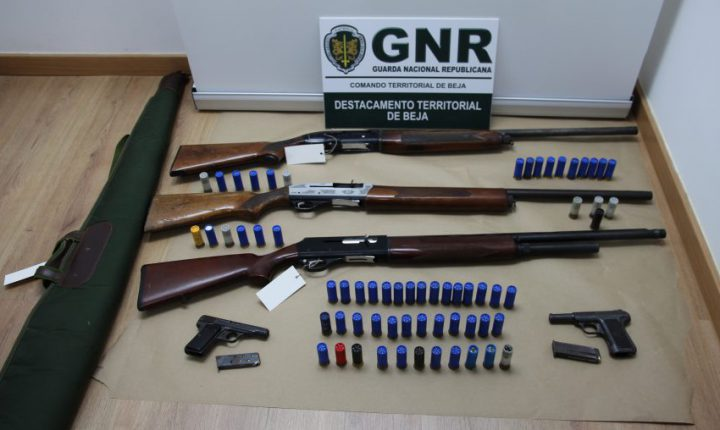 Vidigueira: Quatro detidos por posse ilegal de armas