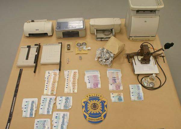 Alentejo: PJ detém 3 pessoas por contrafação de moeda