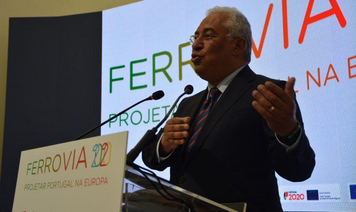 Primeiro-ministro no lançamento da barragem do Pisão