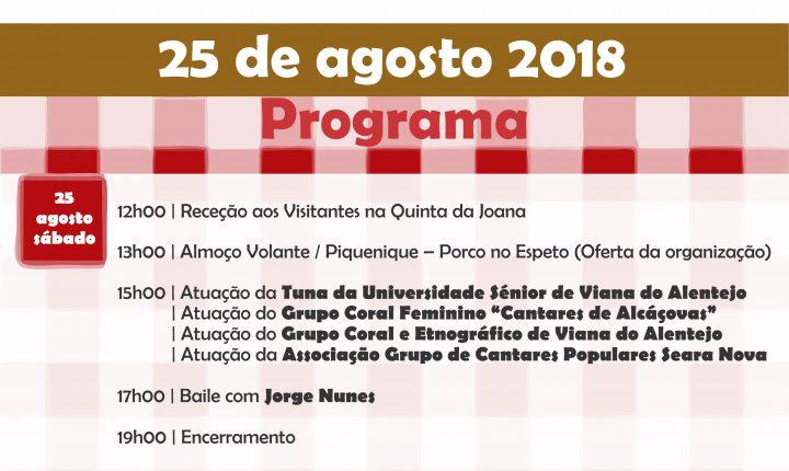 """Viana do Alentejo: 150 participam na 4ª edição da """"Festa da Minha Terra"""" em Viana do Alentejo"""