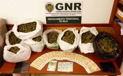 GNR detém quatro homens por tráfico de droga em Beja