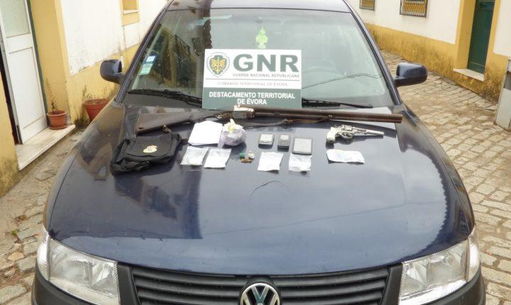 Suspeitos de tráfico de droga detidos em Évora