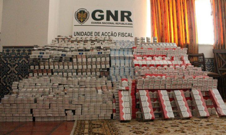 GNR apreende em Elvas mais de 87 mil cigarros