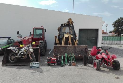 GNR recupera veículos e equipamentos furtados em Portalegre