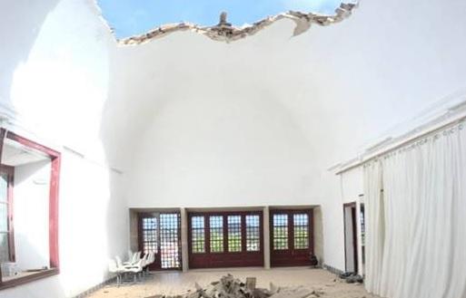 Ruiu teto no Convento da Saudação em Montemor-o-Novo