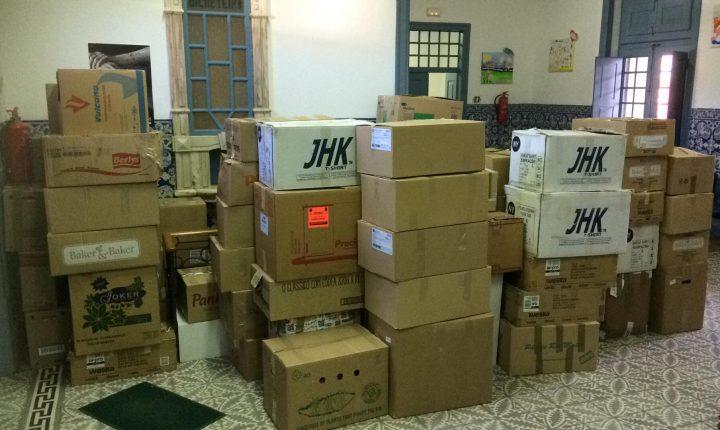 Reguengos de Monsaraz envia 115 caixas de roupa para Moçambique