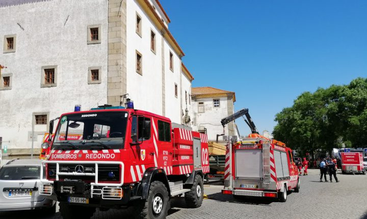 Proteção Civil testou prontidão no centro histórico de Évora