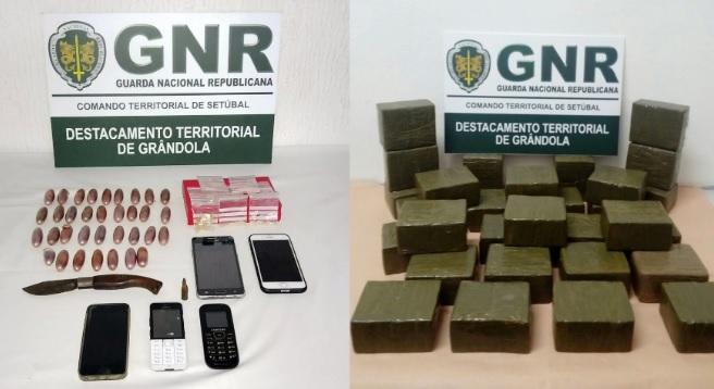 GNR desmantela rede de tráfico de droga em Grândola