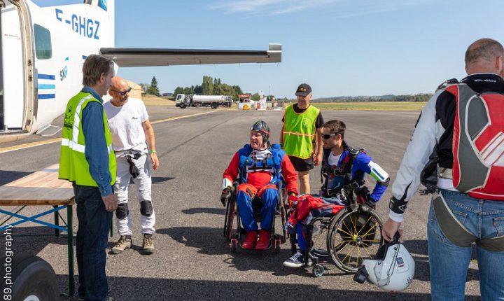 10 países em prova de paraquedismo para deficientes motores