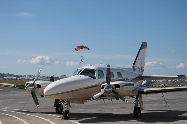 Aeródromo de Évora recebe paraquedismo para pessoa deficiente