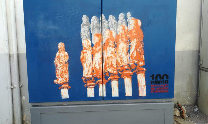 Arte urbana dá cor aos armários de distribuição de eletricidade em Évora
