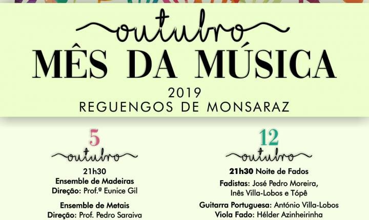 Reguengos de Monsaraz celebra a música em outubro