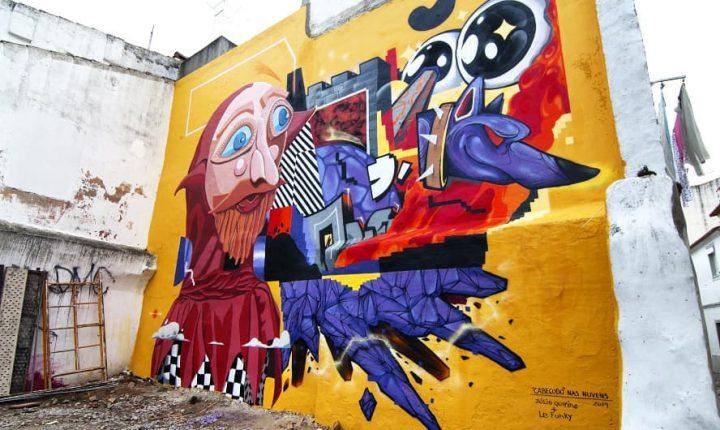 """Centro histórico de Évora """"ganha"""" primeira intervenção de arte de rua"""