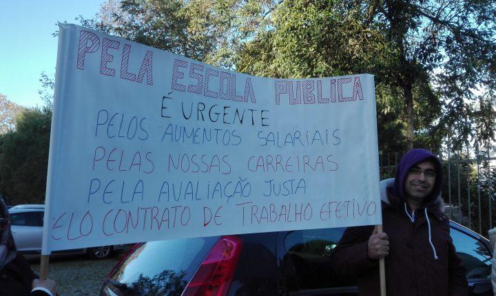 Concentração em Évora contra falta de pessoal não docente nas escolas