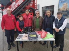 Bombeiros de Évora recebem fatos de proteção individual de combate a incêndios