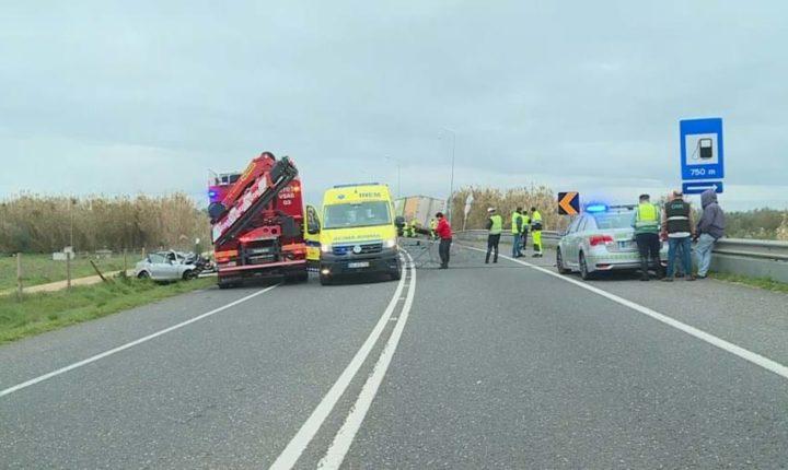 Mãe morre e filho fica ferido em acidente no IP2 em Évora