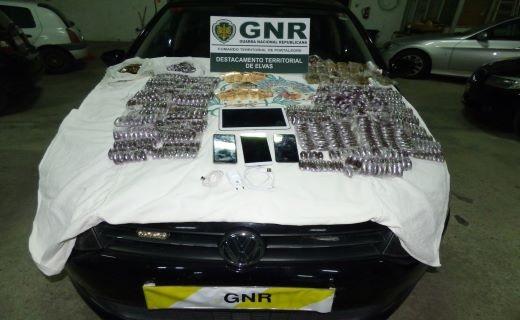 GNR detém dois suspeitos de tráfico de droga na fronteira do Caia