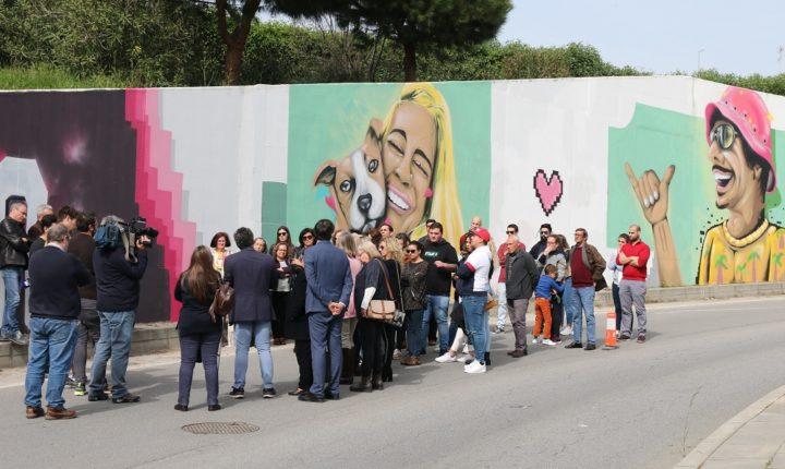Mural em Évora apela à prevenção e segurança rodoviária
