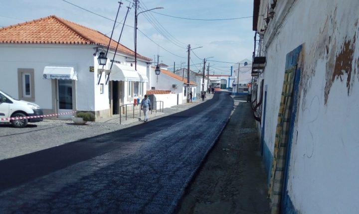 Câmara de Évora repavimenta arruamentos em Nossa Senhora de Machede