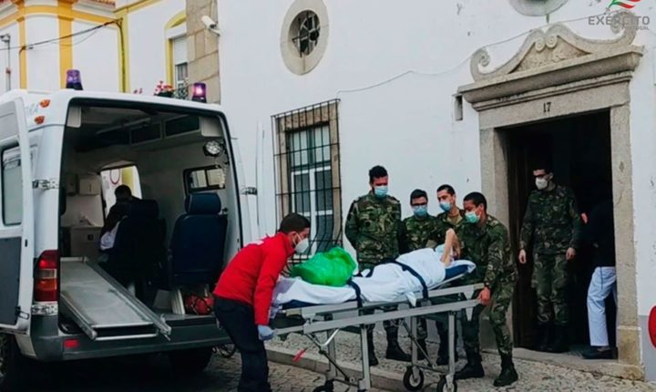 Centro de Saúde Militar de Évora já tem seis doentes internados
