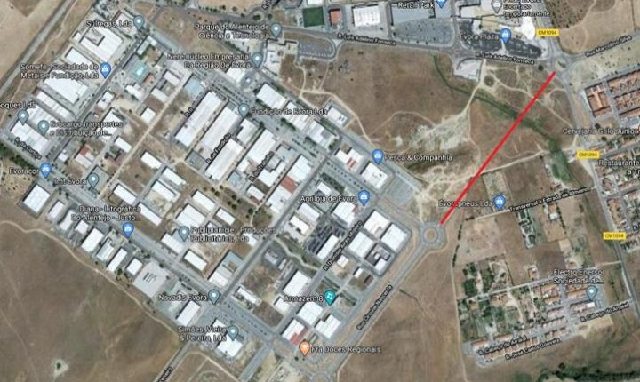 Évora constrói via de ligação entre parque industrial e rotunda de Almeirim