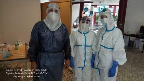 Enfermeiros de Évora realizam testes covid-19 em Reguengos de Monsaraz