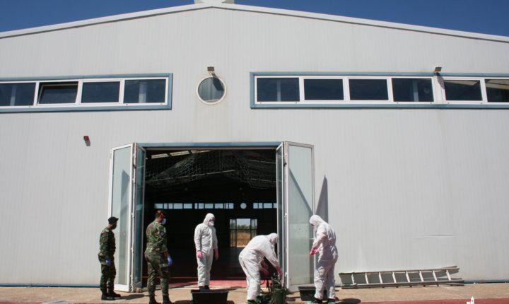 Exército Português desinfeta pavilhão em Montoito