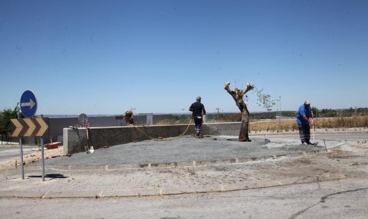 Rotunda dos Bombeiros em Viana do Alentejo alvo de requalificação
