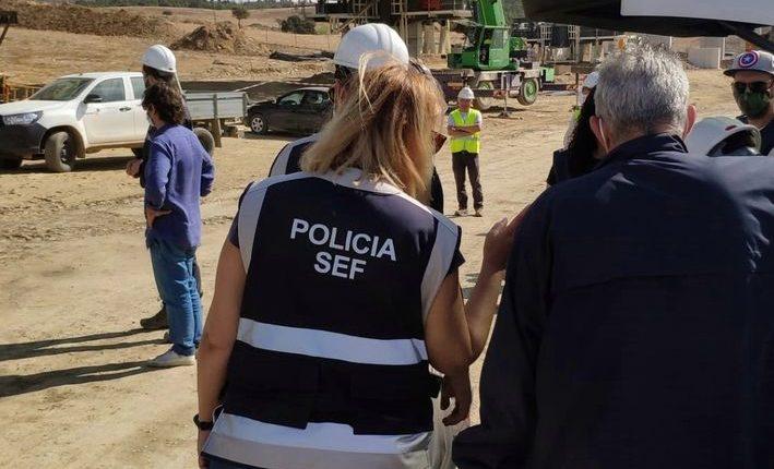 SEF fiscaliza estaleiros de construção civil no Alentejo
