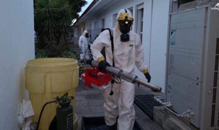 Exército descontamina Centro de Saúde de Estremoz