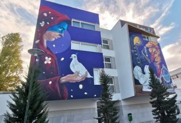 """Fachada da Residência António Gedeão """"ganha"""" nova cor"""