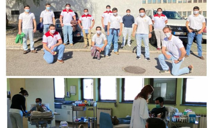 Hospital de Évora recebe dádiva de sangue do grupo de forcados da cidade