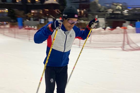 Eborense no Mundial de esqui nórdico