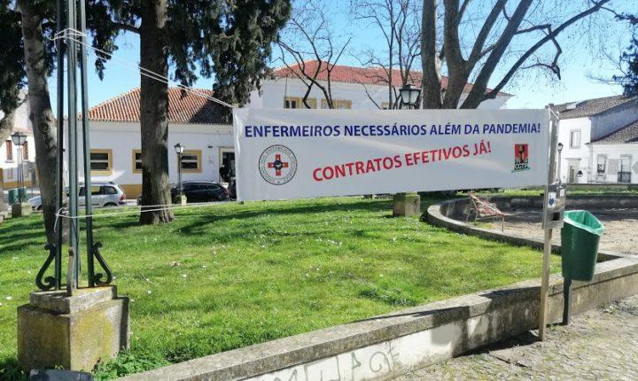 Enfermeiros concentram-se contra precariedade do setor em Évora