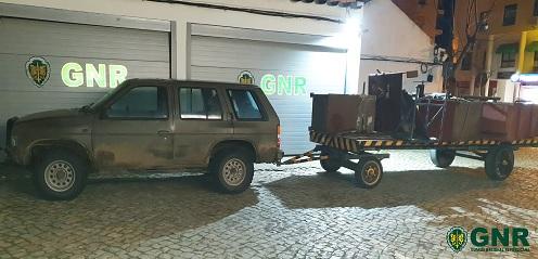 Quatro detidos em flagrante por furto de metais não preciosos em Sines