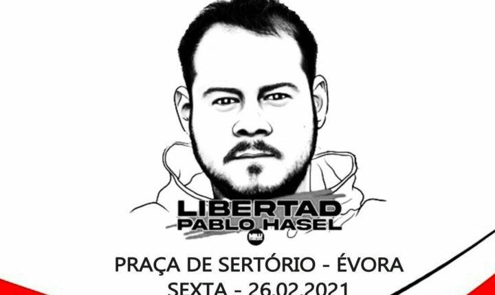 Évora manifesta-se pela libertação do rapper catalão Pablo Hasél