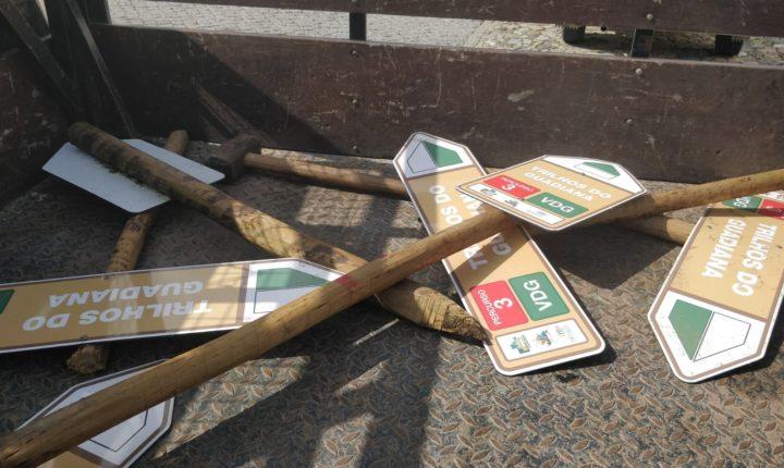 Trilho do Guadiana vandalizado