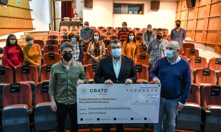 Crato apoia empresários do concelho com 100 mil euros