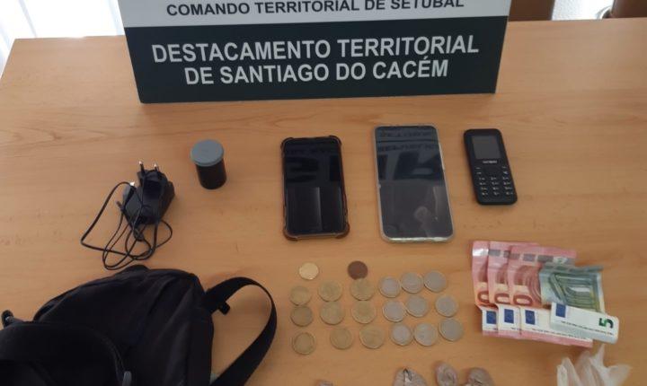 GNR deteve homem por tráfico de estupefacientes em Sines